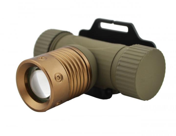 Налобный фонарь Bailong BL 6855 аккумуляторный, ZOOM