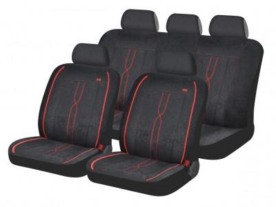 Автомобильные чехлы на сиденье Hadar Rosen LEADER Черный с красным 10409