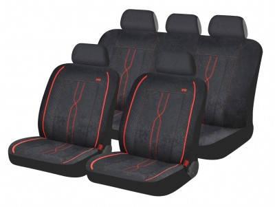 Автомобильные чехлы на сиденье Hadar Rosen LEADER Черный с красным 10409, фото 2