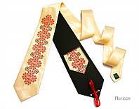 Мужской галстук с вышивкой «Полесье»