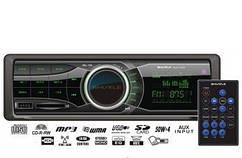 Автомагнітола SUD-350 Black/Green USB/SD ресивер