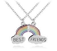 Парные кулоны для друзей радуга - best friends