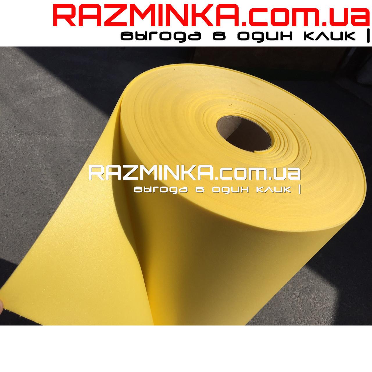 Цветной Изолон ППЭ 2мм, желтый (15 кв.м)