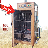 Електростатична Коптильня 550 л -холодного та гарячого копчення, +просушування. Нержавіюча сталь всередині, дах плоский