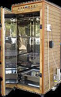 Электростатическая Коптильня 1300л -холодного и горячего копчения, +просушка. Нержавейка внутри, крыша плоская, фото 1