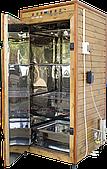 Електростатична Коптильня 1300л -холодного та гарячого копчення, +просушування. Нержавіюча сталь всередині, дах плоский
