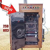 Электростатическая Коптильня 250л -холодного и горячего копчения, +просушка. Нержавейка внутри, крыша плоская, фото 1