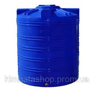 Ємність для води 1000 л вертикальна двошарова пластикова