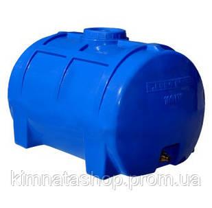Емкость для воды на 200 л горизонтальная однослойная  (85x58x55 см) пластиковая синяя