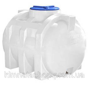 Ємність для води на 500 л горизонтальна одношарова (110х81х90см) пластикова біла