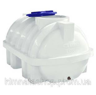 Ємність для води 500 л горизонтальна одношарова ребро (124 x 90 x 78 см) пластикова біла
