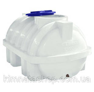 Емкость для воды на 1500 л горизонтальная однослойная ребром (180х123х106см) пластиковая