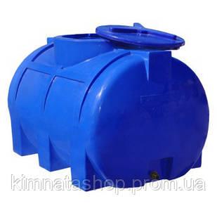 Емкость для воды на 250 л горизонтальная двухслойная  (93х62х64см) пластиковая синяя