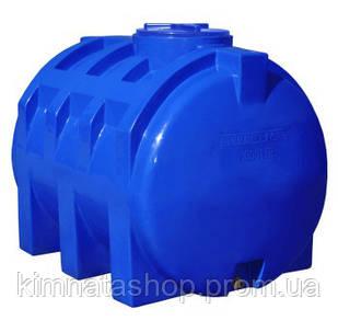 Емкость для воды на 1000 л горизонтальная двухслойная  (138х97х106см) пластиковая синяя
