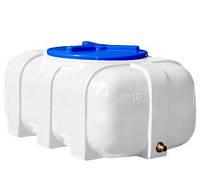 Емкость для воды на 200 л овальная однослойная (99х71х48см) пластиковая белая