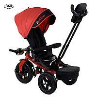 Велосипед трехколесный с родительской ручкой от 1 года Best Trike Красный 360° ПОВОРОТНОЕ СИДЕНИЕ 9500 - 9172