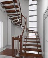 Лестница на чистовом металлокаркасе