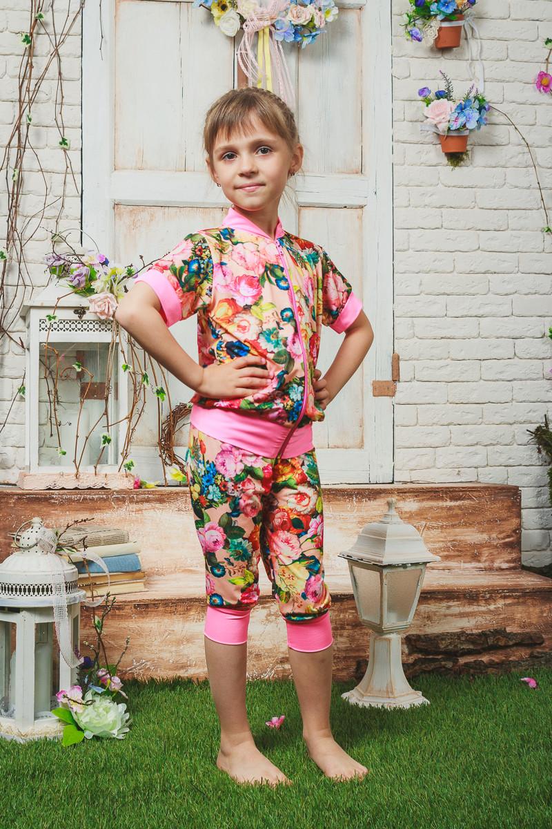 Костюм для девочки летний розовый