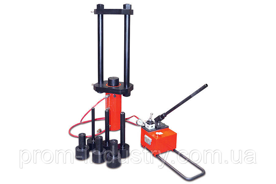 Выпрессовщик пальцев и втулок гусеничных цепей гидравлический мобильный «ВПТЦ» (ВПТЦ150)