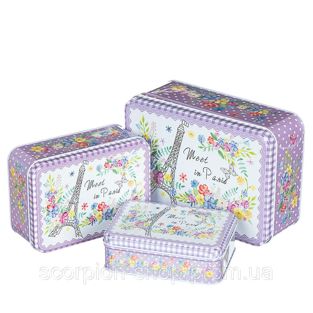 "Набор коробок ""Париж в цветах"" (0269JA) жесть"
