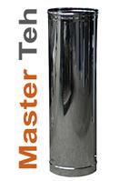Одностенная дымоходная труба из нержавеющей стали диаметр 110 мм, длина 0,3 метра