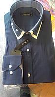 Стильная Мужская рубашка c пуговицами на воротнике приталенная с длинным рукавом DERGI