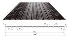 Профнастил для стін, покрівель, забору ПС / ПК 10 Метал 0,45 поліестер матовий коричневий, зелений, червоний,, фото 2