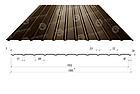 Профнастил для стін, покрівель, забору ПС / ПК 10 Метал 0,45 поліестер матовий коричневий, зелений, червоний,, фото 3