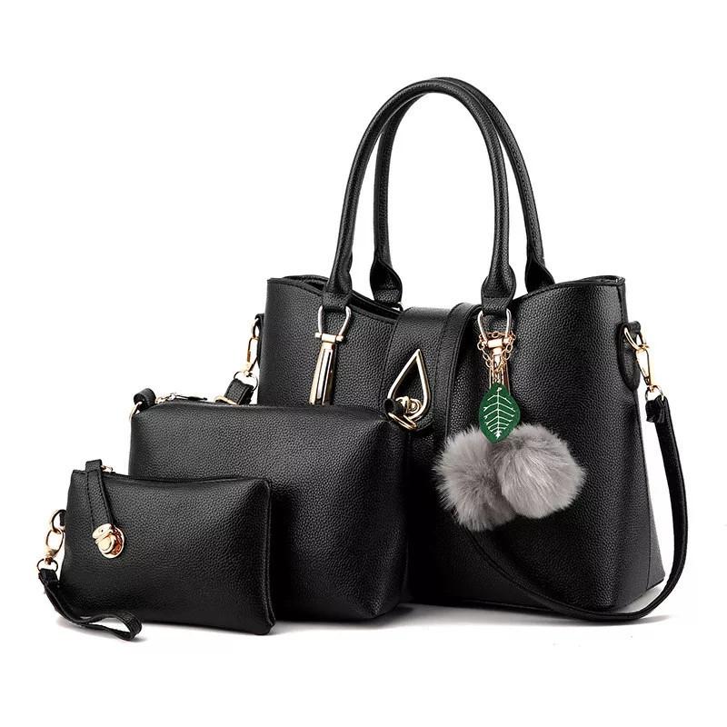 Набор сумок 3в1 Modern: сумка, клатч, косметичка черный