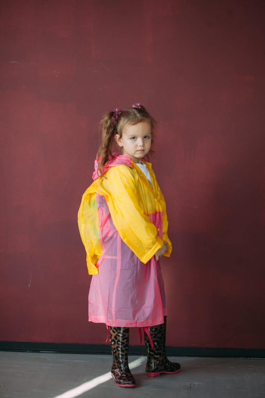 Плащ-дождевик детский водонепроницаемый Kids Rain 130-140 см (YH-868)