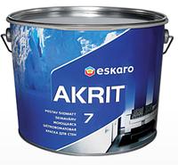 Eskaro Akrit 7 Шелковисто-матовая краска для стен, моющаяся 9,5 л, фото 1