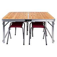 Стол туристический, для пикника бамбуковый складной GC-9001