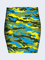 c1038a7612f Женская Юбка Украинский камуфляж с 3D Принтом Рисунком Модная