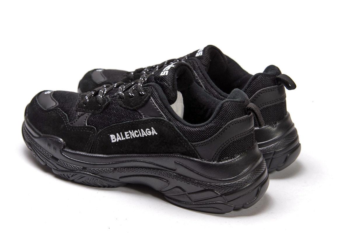 Кроссовки женские Баленсиага ► Balenciaga Triple S - черные