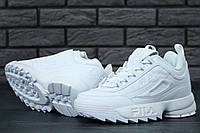 Кроссовки Fila Disruptor 2 женские, белые, в стиле Фила Дизраптор 2, материал-кожа, подошва-пена, код KD-11468.