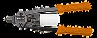 Заклепочник торцевой для стальных и алюминиевых заклепок 2.4, 3.2, 4.0, 4.8 мм .NEO