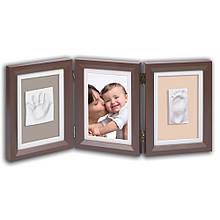 Набір для створення дитячих відбитків з рамочками Baby Art Double Print Frame brown&taupe/beige