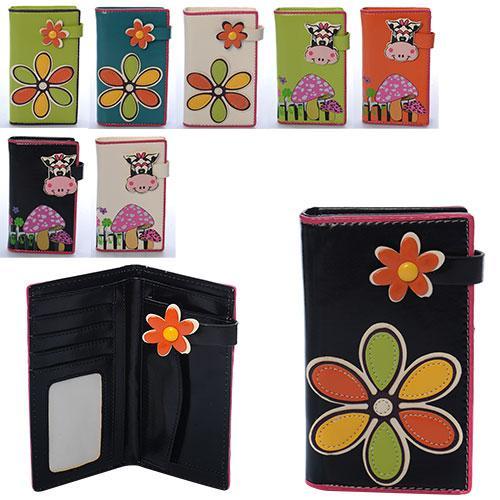 Гаманець 1097-2 (300шт) портмоне, застібка-кнопки, мікс видів, в пакеті, 15,5-9-2см