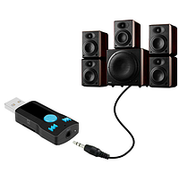 Автомобіль Бездротової Bluetooth, AUX аудіо приймач адаптер 3,5 мм джек Aux гучного зв'язку Bluetooth Car Kit П, фото 1