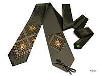 """Атласный галстук с вышивкой """"Косак"""", фото 1"""