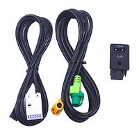 Aux перемикач бездротової адаптер USB кабель для BMW 3 серії E87 5 E90 E91 E92 X5 X6, фото 1
