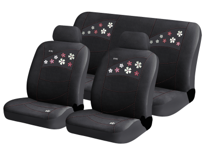 Чехлы для автомобильных сидений Hadar Rosen FLOWERS Черный 10220