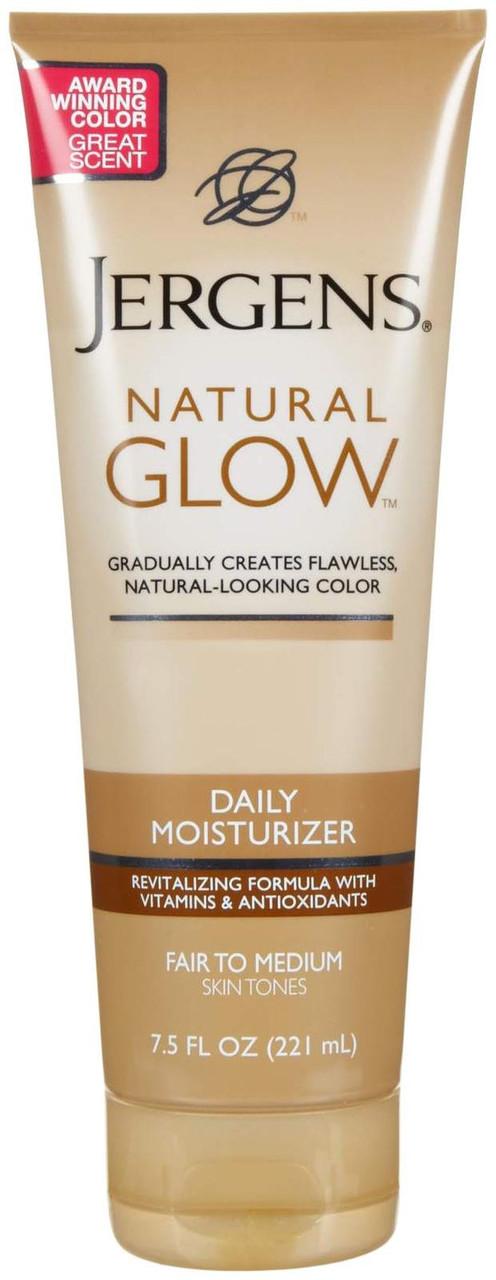 Лосьон для тела увлажняющий с автозагаром Jergens Natural Glow Revitalizing Daily Moisturizer Fair to Medium