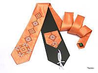 """Атласный галстук с вышивкой """"Червин"""", фото 1"""