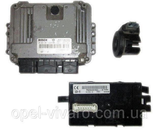 Блок управління двигуном комплект 1.9 DCI NISSAN PRIMASTAR 00-14 (НІССАН ПРИМАСТАР)