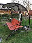 Качеля садовая металлическая кованая с раскладным диваном , фото 2