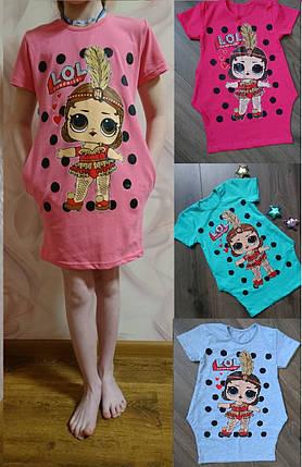 Платье-туника для девочек с карманами, фото 2