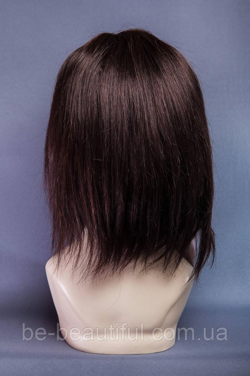 Натуральный парик №9, цвет черный шоколад