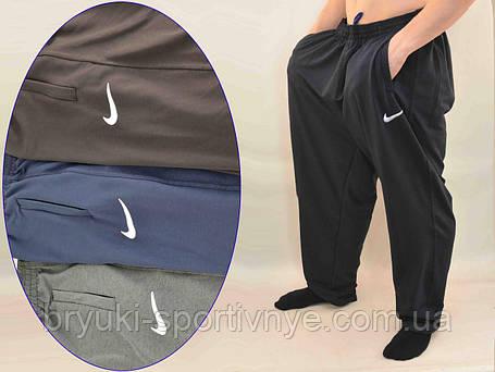 Брюки спортивные мужские трикотажные Nike в очень больших размерах - штаны спортивные батал, фото 2