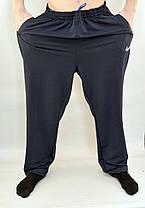 Брюки спортивные мужские трикотажные Nike в очень больших размерах - штаны спортивные батал, фото 3